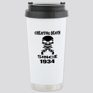 Cheating Death Si 16 oz Stainless Steel Travel Mug