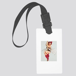 Vintage Pin-Up Large Luggage Tag