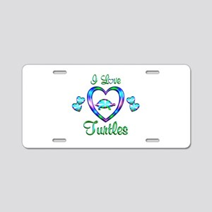 I Love Turtles Aluminum License Plate