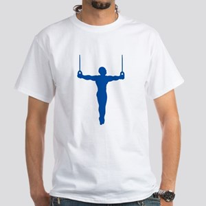 Rings Gymnast White T-Shirt