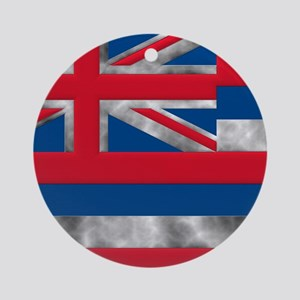 Hawaii State Flag Round Ornament