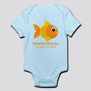 Goldfish CUSTOM Baby Name Birthdate Body Suit