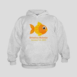 Goldfish CUSTOM Baby Name Birthdate Hoodie