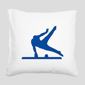 Pommel Horse Square Canvas Pillow