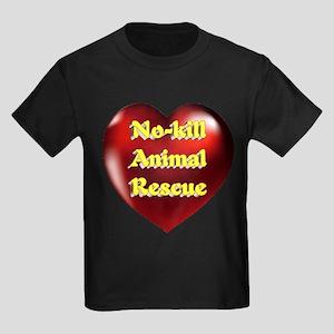 No-kill Animal Rescue Kids Dark T-Shirt