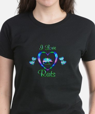 I Love Rats Women's Dark T-Shirt