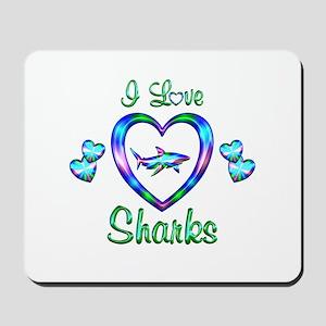 I Love Sharks Mousepad