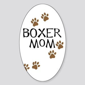 Boxer Mom Sticker (Oval)