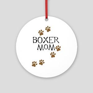 Boxer Mom Ornament (Round)