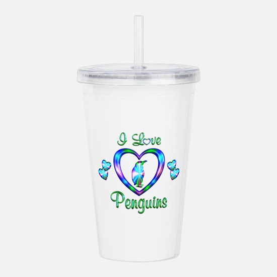 I Love Penguins Acrylic Double-wall Tumbler