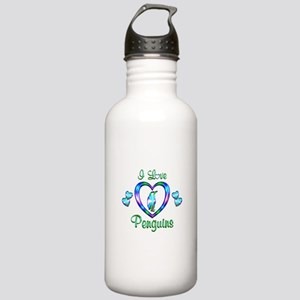 I Love Penguins Stainless Water Bottle 1.0L