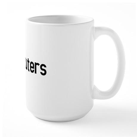 I hate computers Large Mug
