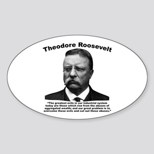 TRoosevelt: Wealth Sticker (Oval)