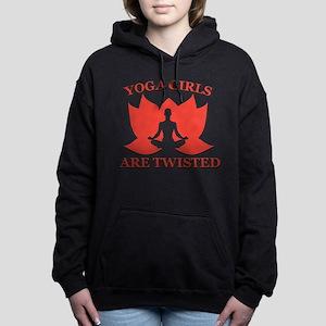 yoga girls are twisted Women's Hooded Sweatshirt