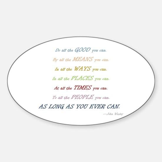 Cute Wesley Sticker (Oval)