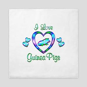 I Love Guinea Pigs Queen Duvet