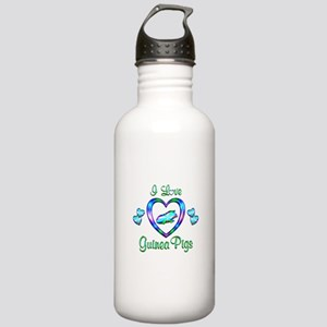 I Love Guinea Pigs Stainless Water Bottle 1.0L