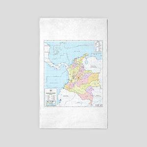 Colombia mapa oficial Area Rug