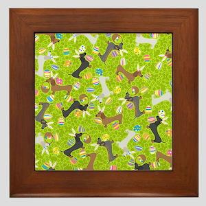 It's the Easter Dachshund! Framed Tile