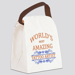 Tattoo Artist Canvas Lunch Bag
