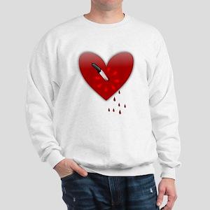 anti valentines bloody heart Sweatshirt