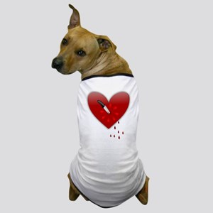anti valentines bloody heart Dog T-Shirt