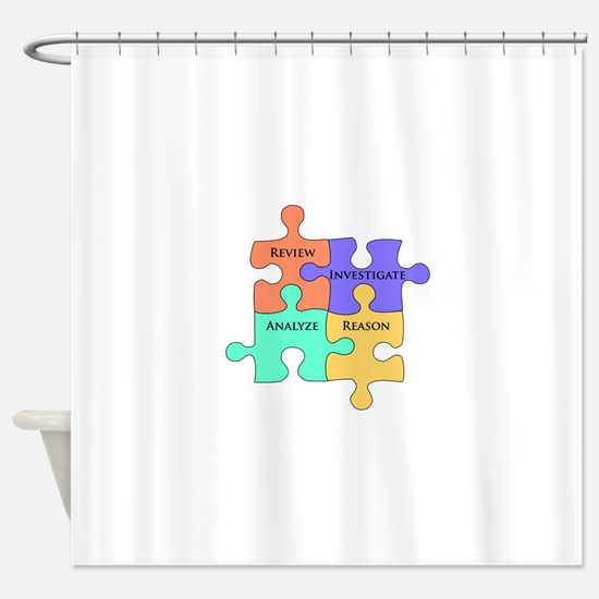 Cute Analyze Shower Curtain