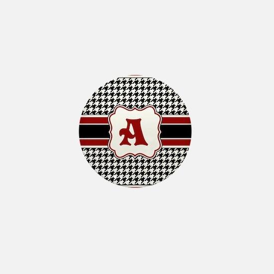 Houndstooth Monogram Mini Button