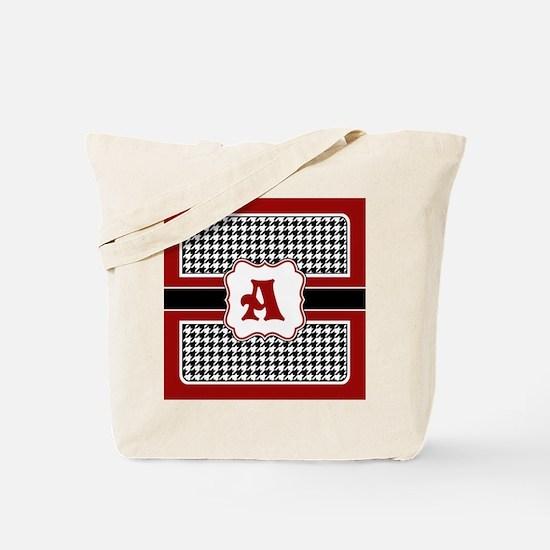 Houndstooth Monogram Tote Bag