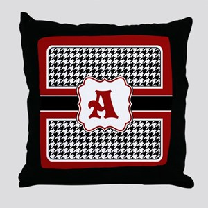 Houndstooth Monogram Throw Pillow