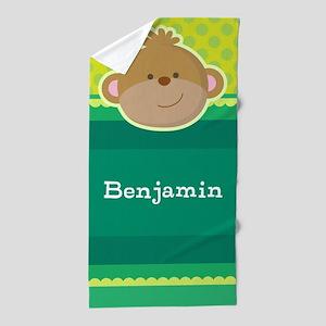 Monkey Jungle Kids Personalized Beach Towel