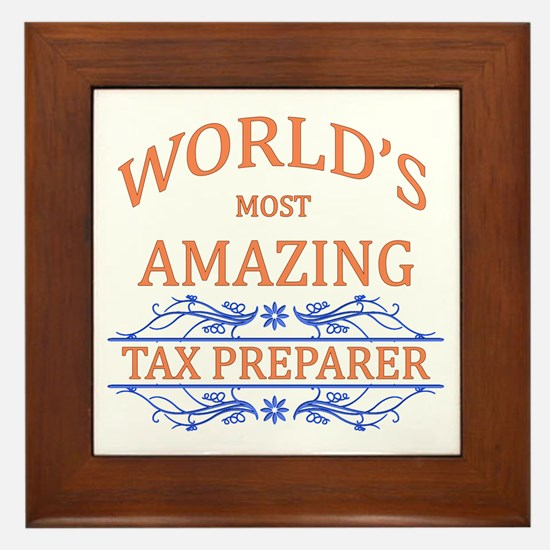 Tax Preparer Framed Tile