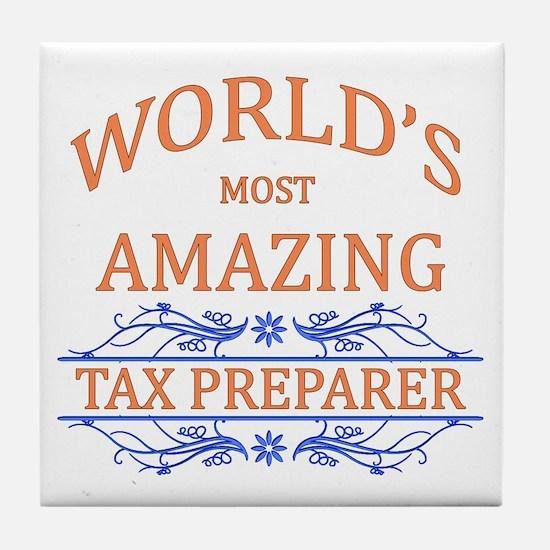 Tax Preparer Tile Coaster