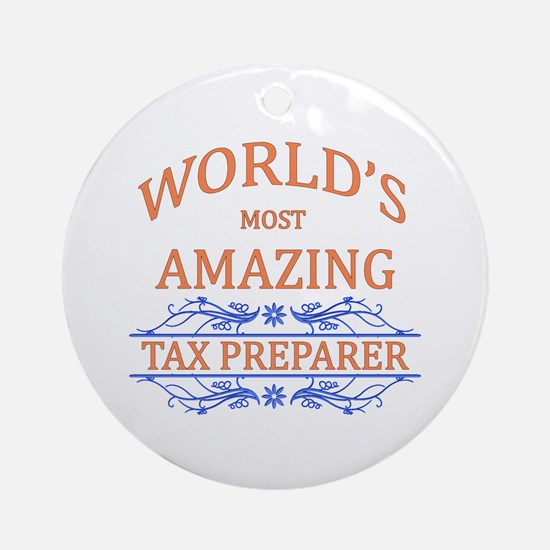 Tax Preparer Round Ornament
