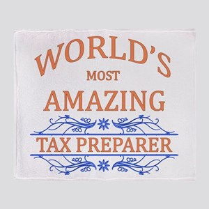 Tax Preparer Throw Blanket