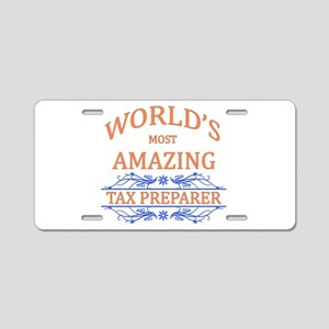 Tax Preparer Aluminum License Plate