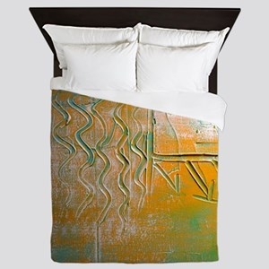 Incredible Textures by One Curious Hum Queen Duvet