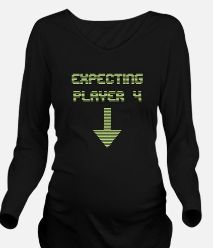 Expecting Player 4 Long Sleeve Maternity T-Shirt