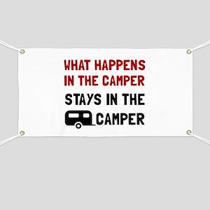 Happens Stays In Camper Banner