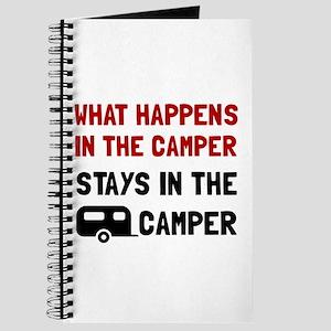 Happens Stays In Camper Journal