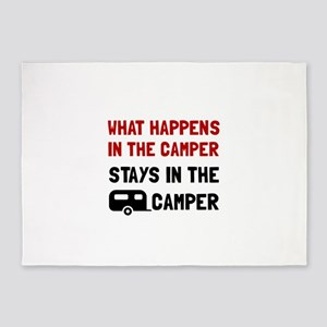 Happens Stays In Camper 5'x7'Area Rug