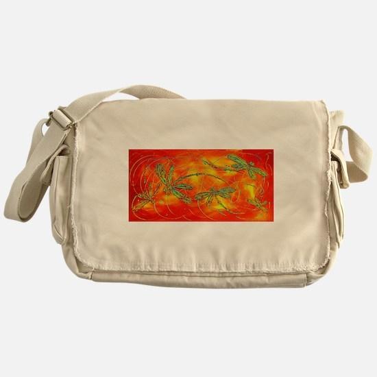 Dragonfly Fire Messenger Bag