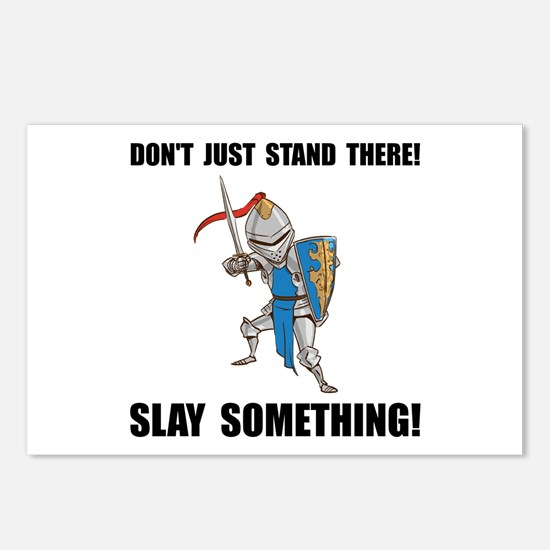 Knight Slay Something Cartoon Postcards (Package o