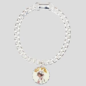 Harvard College Girl Charm Bracelet, One Charm