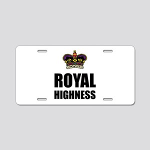Royal Highness Crown Aluminum License Plate