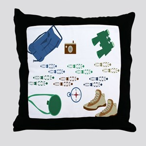 Backpacker Gear Throw Pillow