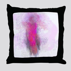 Angel in Pink and Orange Throw Pillow