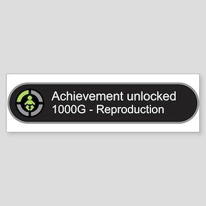 Achievement Unlocked - Reproduction Bumper Sticker