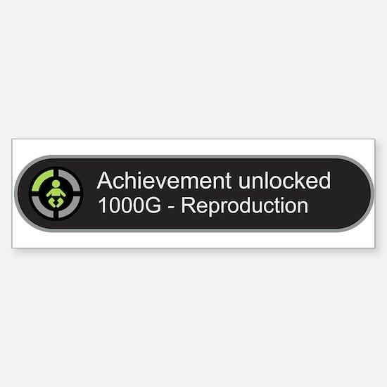 Achievement Unlocked - Reproduction Bumper Bumper Bumper Sticker