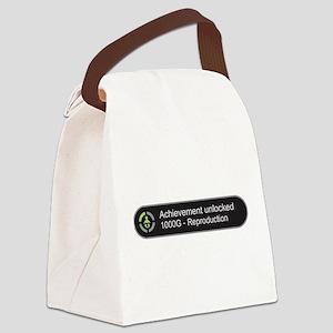 Achievement Unlocked - Reproducti Canvas Lunch Bag